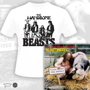 THE HANDSOME BEASTS - BEASTIALITY (LTD EDITION 100 COPIES + 4 BONUS TRACKS+ T-SHIRT) CD/T-SHIRT SIZE: M (NEW)