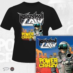 MARSHALL LAW - POWER CRAZY (LTD EDITION 100 COPIES + T-SHIRT) CD/T-SHIRT SIZE: L (NEW)
