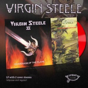 VIRGIN STEELE - GUARDIANS OF THE FLAME (2018 DELUXE EDITION 2-COVER SLEEVES VERSION, LTD 100 COPIES RED VINYL) LP (NEW)